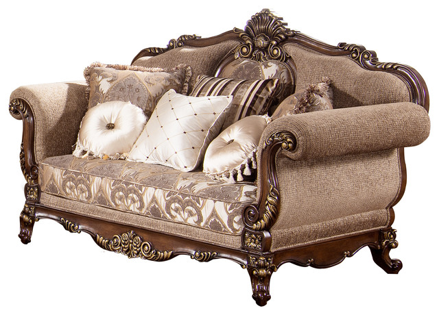 Winfrey Traditional Loveseat - Victorian - Loveseats - by Furniture Import  & Export Inc.
