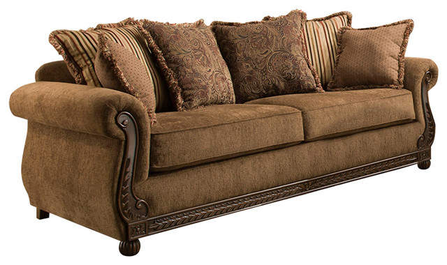 Simmons Upholstery Outback Chocolate Loveseat - Traditional - Loveseats -  by Lane Home Furnishings