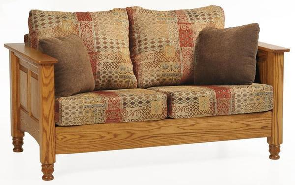 Ask us a Question. Amish Traditional Wood Trim Loveseat