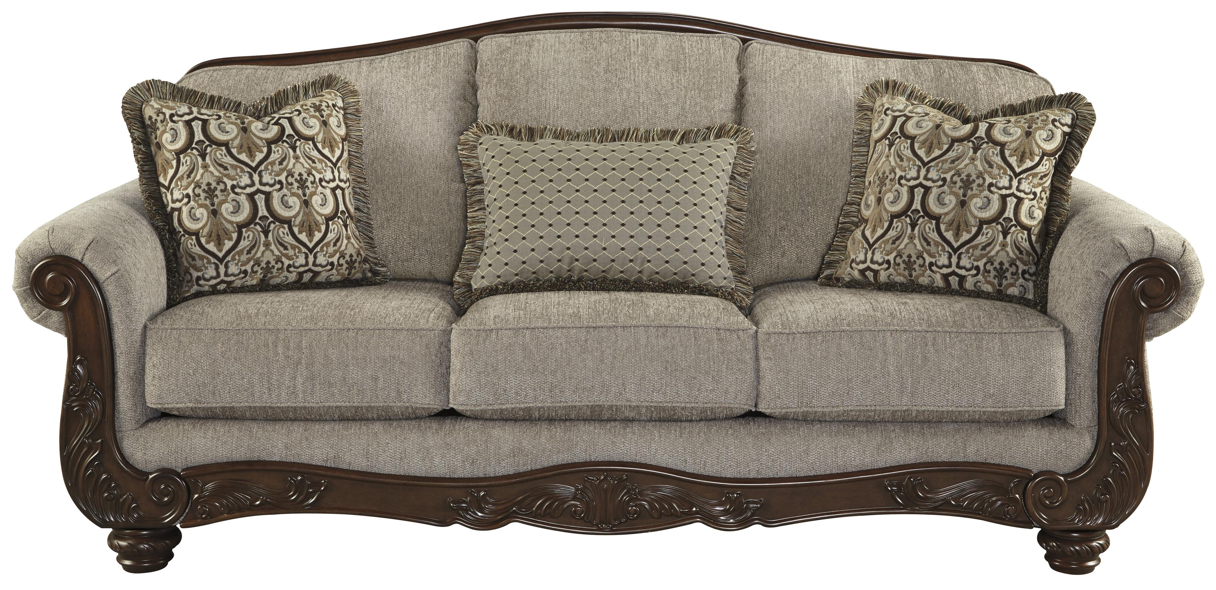 Cecilyn Traditional Sofa with Showood Trim & Camel Back by Signature Design  by Ashley
