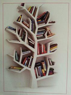 Book tree Tree Bookshelf, Tree Shelf, Tree Book Shelves, Wall Bookshelves,  Bookshelf