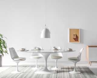 Tulip Table Oval - Carrara
