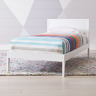 Ever Simple White Twin Bed