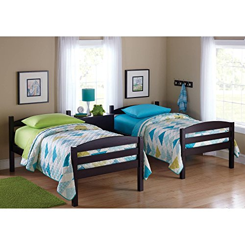 Easy-to-Convert to Twin Bed Practical Space Saver Wood Bunk Bed, Multiple