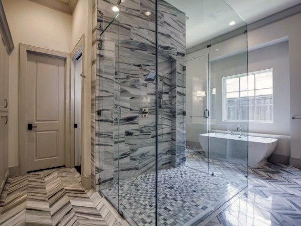 Black And White Marble Cool Showers Ideas Glass Doors