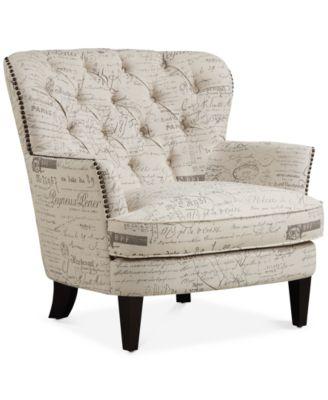 BLUSH & BRASS Royden Upholstered Armchair,