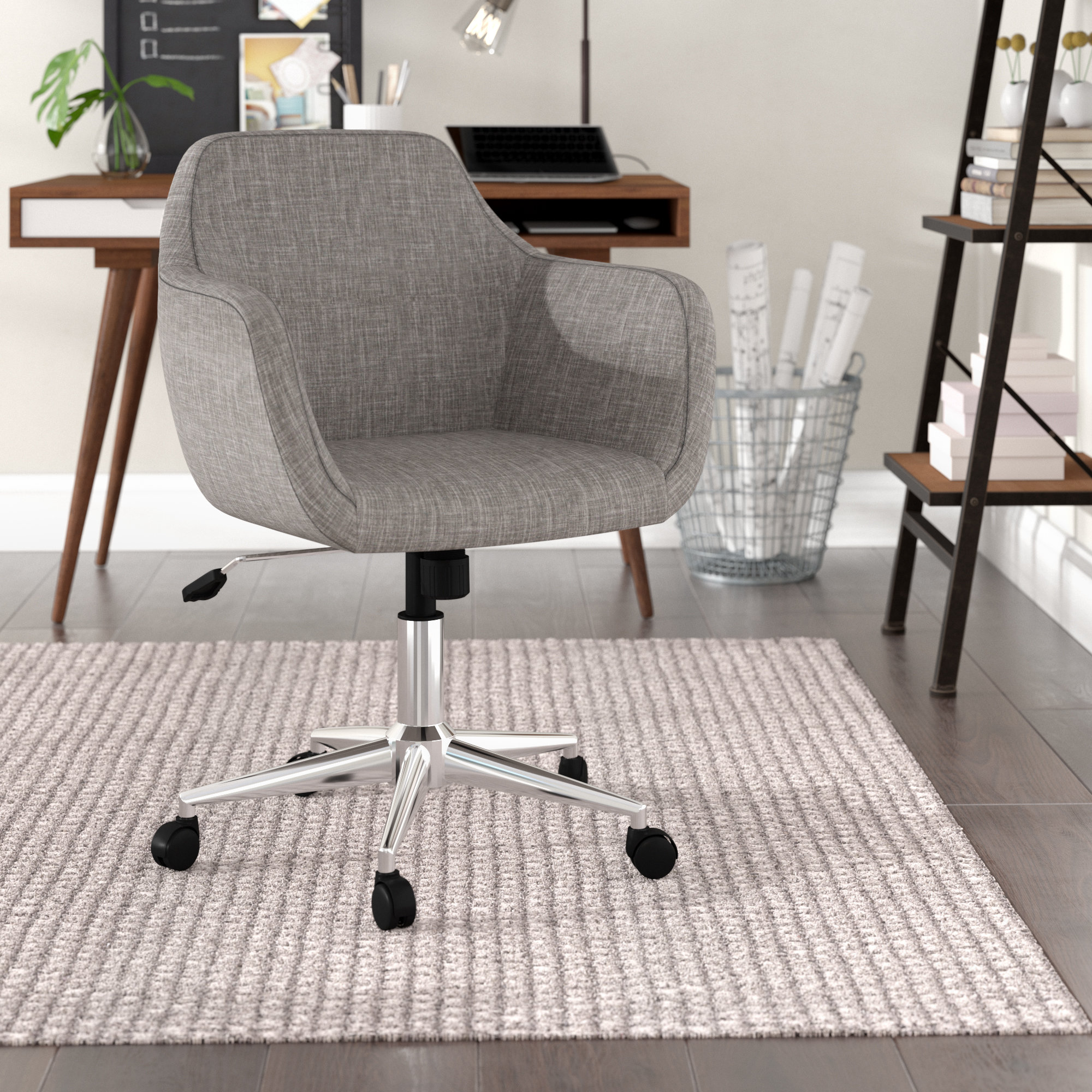 Langley Street Rothenberg Upholstered Home Office Chair & Reviews | Wayfair
