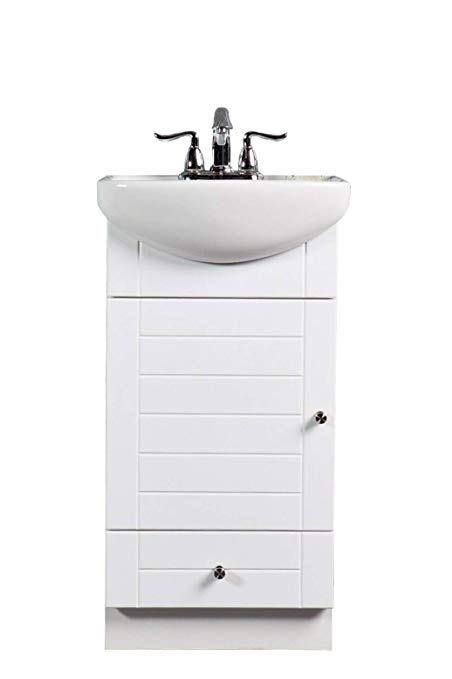 SMALL BATHROOM VANITY CABINET AND SINK WHITE - PE1612W NEW PETITE VANITY -  - Traveller Location