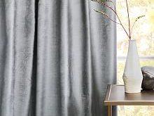Cotton Luster Velvet Curtain - Pewter