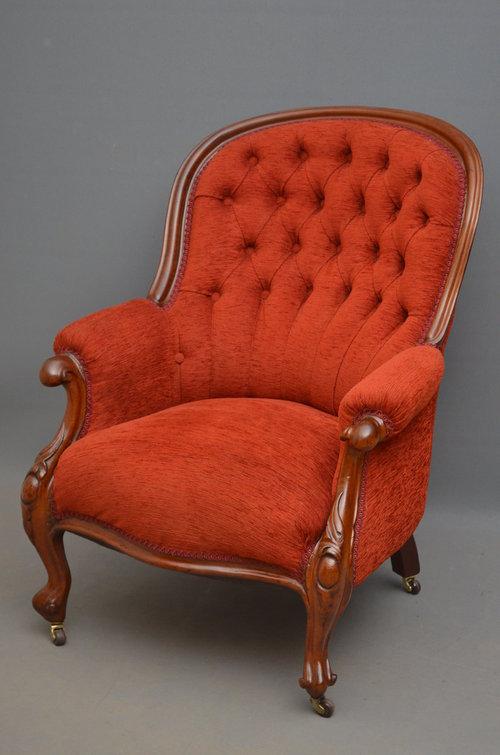 Victorian Armchair - Mahogany Armchair