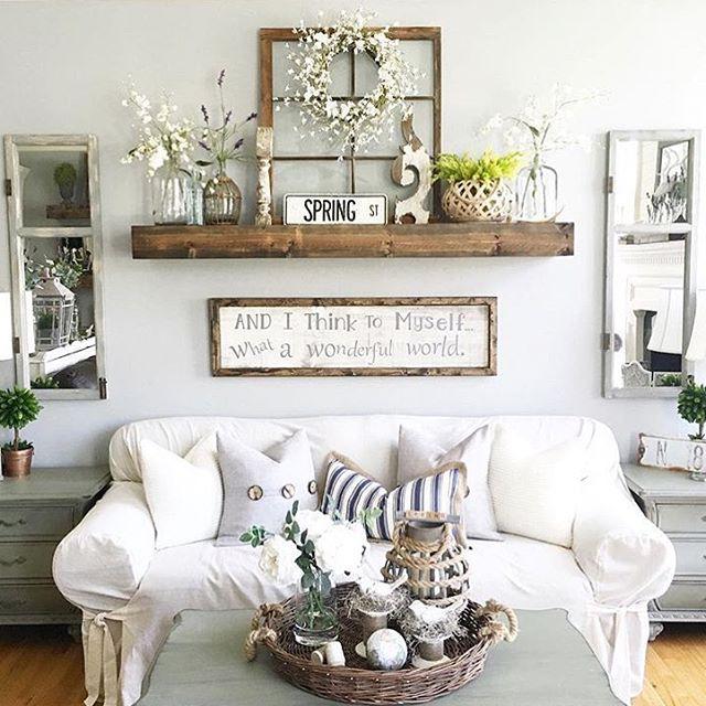Rustic Wall Decor Idea Featuring Reclaimed Window Frames