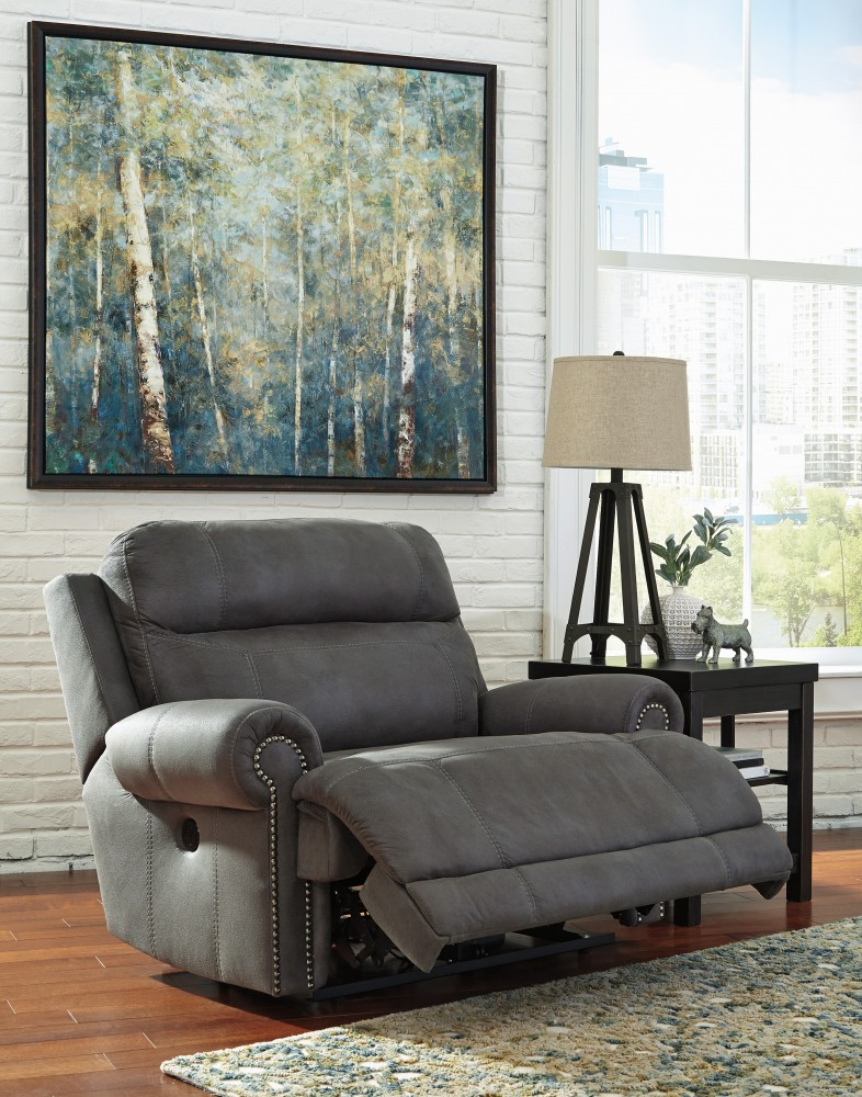 Austere - Gray - Zero Wall Recliner | 3840152 | Recliners | Furniture  Factory Outlet