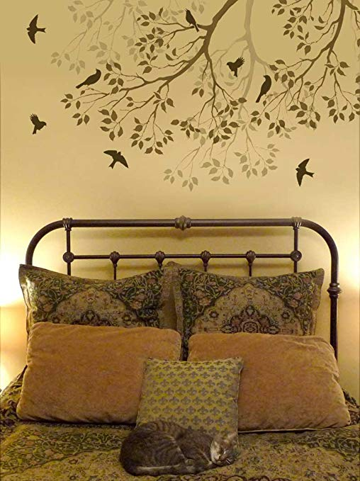 Wall Stencil Spring Songbirds - Reusable stencils better than decals - DIY  decor - Tools Products - Traveller Location