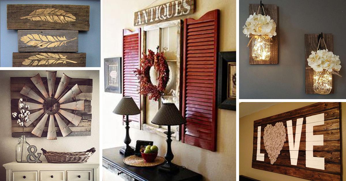 27 Rustic Wall Decor Ideas to Turn Shabby into Fabulous