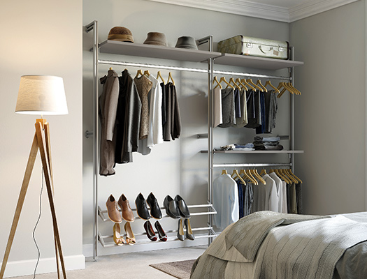 Fitted wardrobe ideas - choosing colours and styles