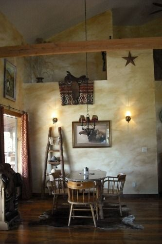 rustic western wall color ideas | Western Saddles: Western Home Decorating  Ideas