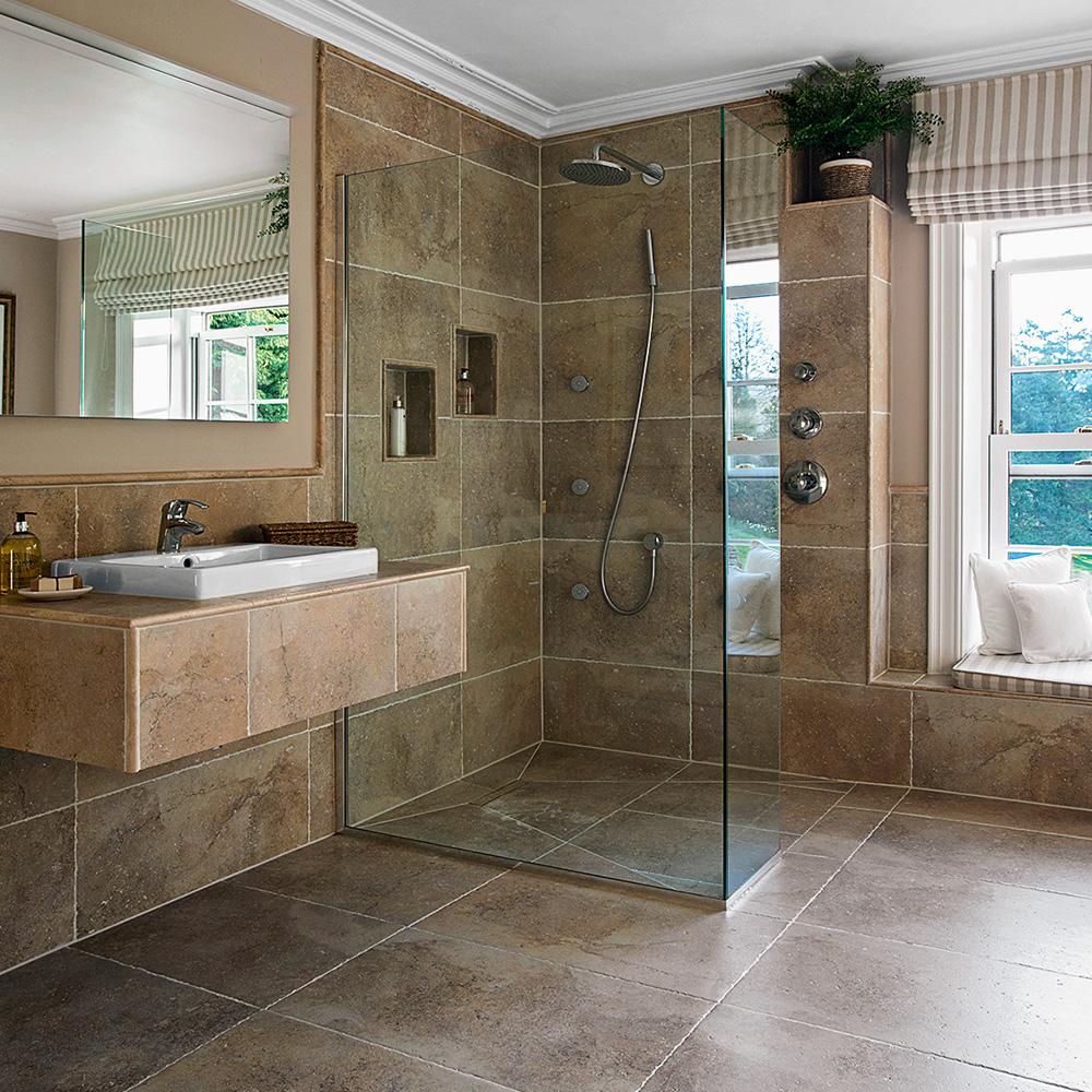 Wet room brown tiles wet rooms