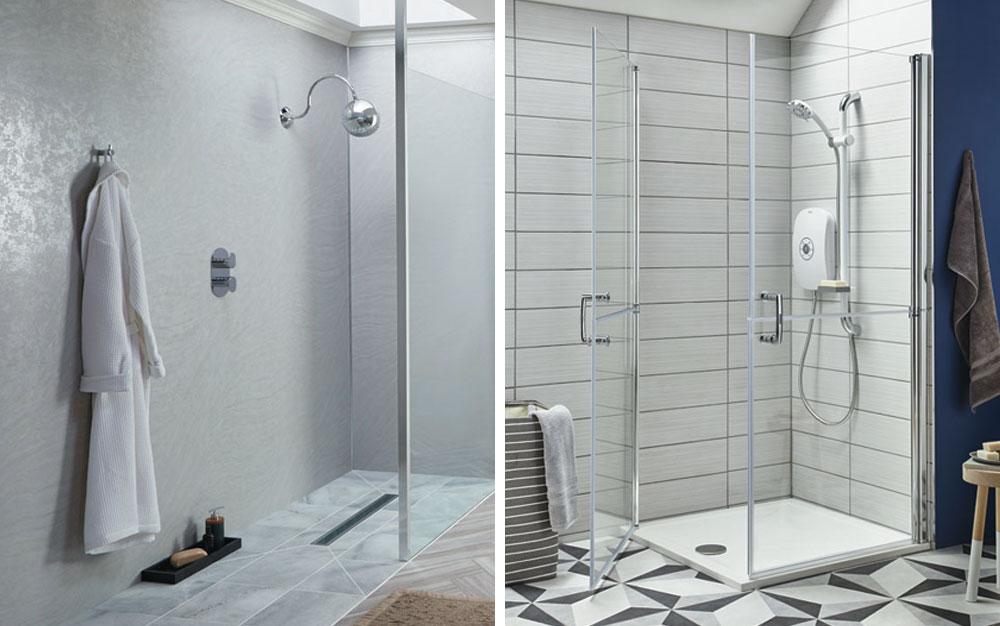 Walk-in shower vs shower cubicle