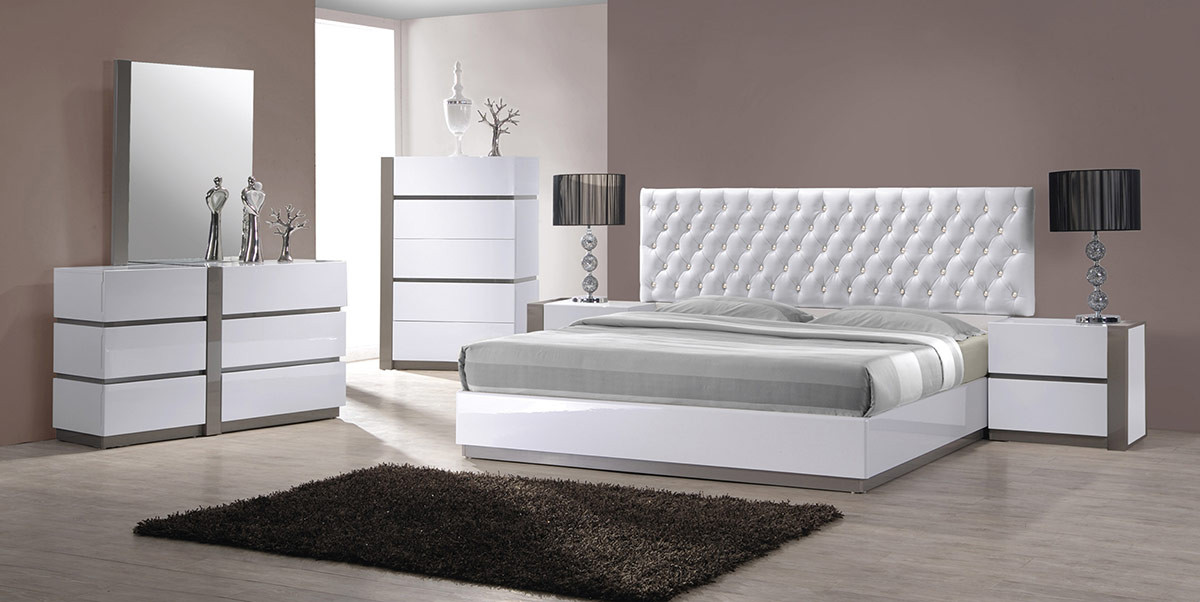 Your bookmark products. Vero Modern White Tufted Bedroom Set
