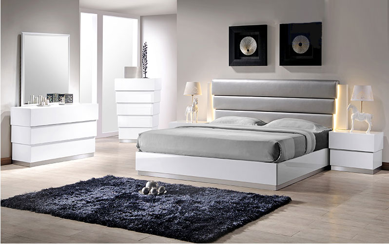 Milan-White Bedroom Set