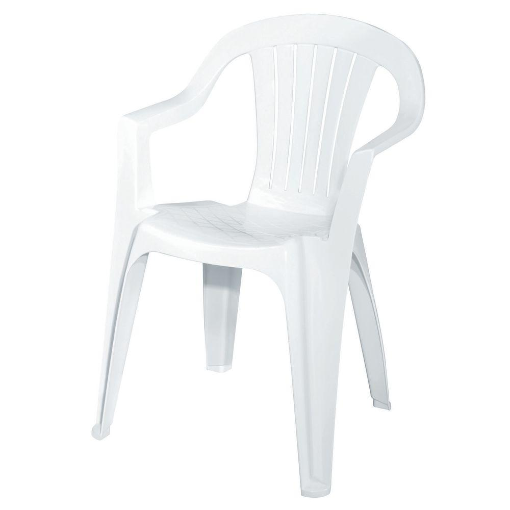 Store SKU #288099. White Patio Low Back Chair