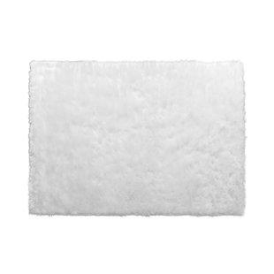 Aveneil Faux Fur True White Area Rug