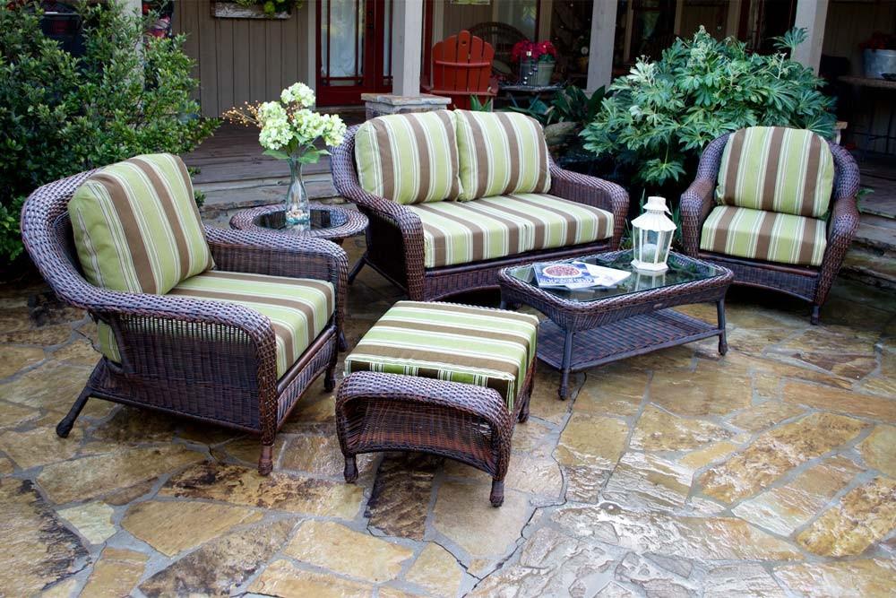 Landry Stripe Malt Fabric / Java Wicker