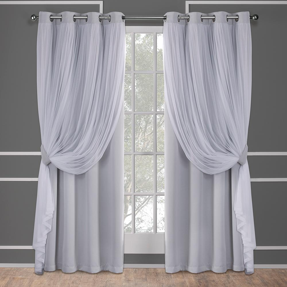 This review is from:Catarina 52 in. W x 96 in. L Layered Sheer Blackout  Grommet Top Curtain Panel in Cloud Gray (2 Panels)