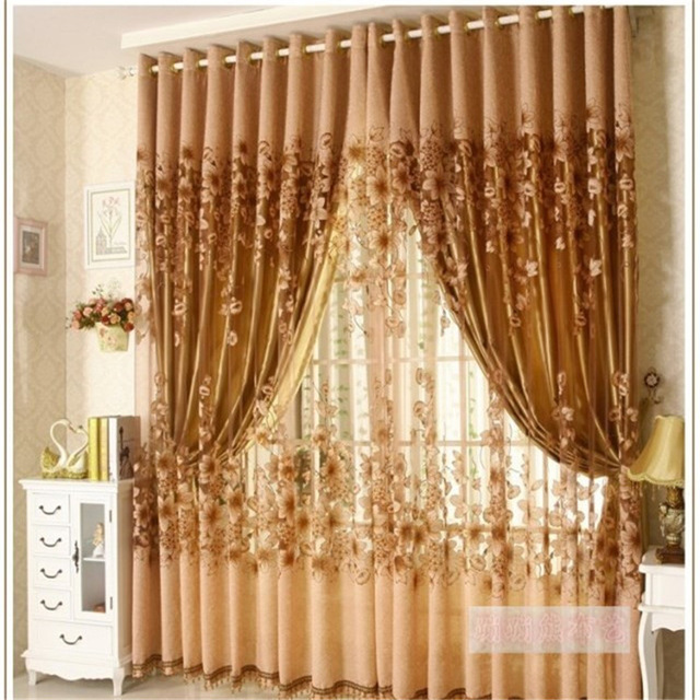 2017 The new Luxury Window Living Room Tulle Window Curtains Kitchen Window  Curtains Door Finished European Sheer Curtains