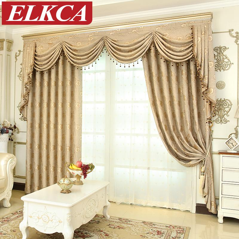 2019 European Luxury Window Curtains For Living Room Bedroom Thick Jacqurd  Curtains For Bedroom Window Treatment Drapes Custom Made From Isaaco,