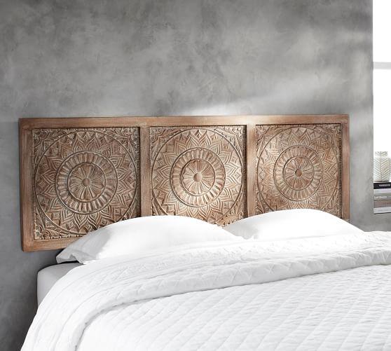 Alia Carved Wood Headboard