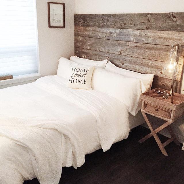 Reclaimed Wood Headboard DIY Installation – Made From Real Barn Wood