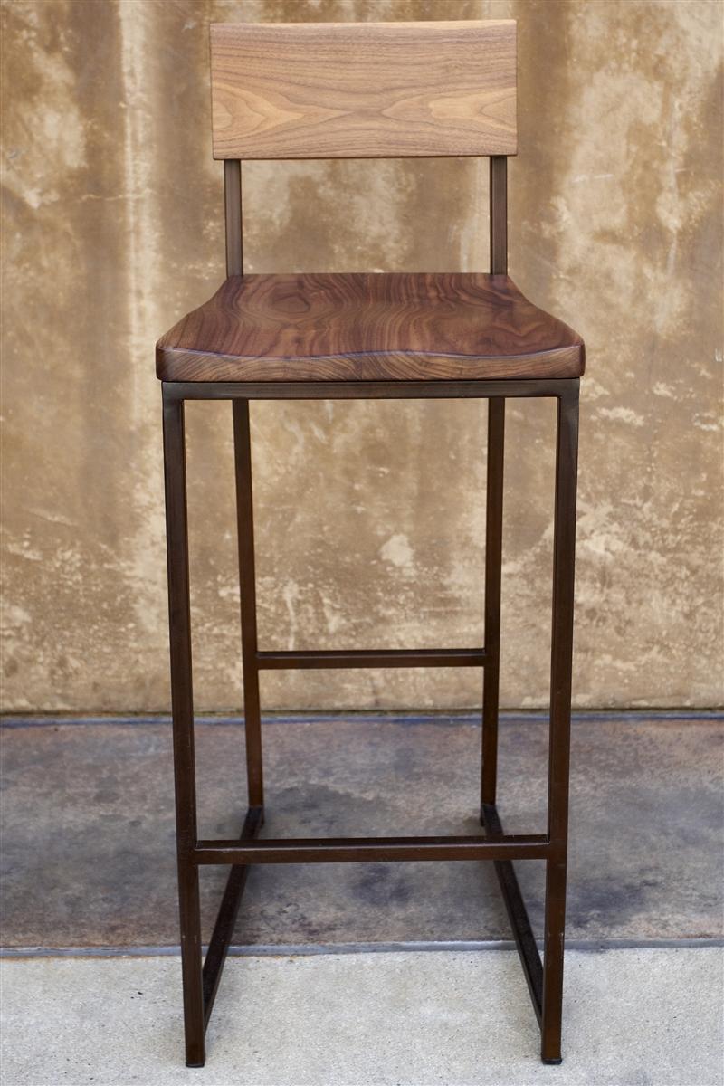 Wood + Metal Counter or Barstool