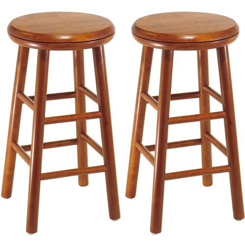 """Winsome Wood Tabby 30"""" Beveled Seat Stools, 2-PC, Multiple Finishes -  Traveller Location"""