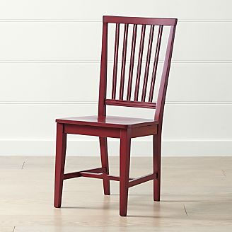 Village Red Wood Dining Chair