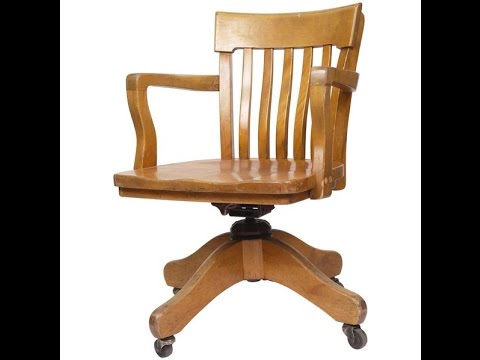 Wood Office Chair~Antique Wood Office Chair