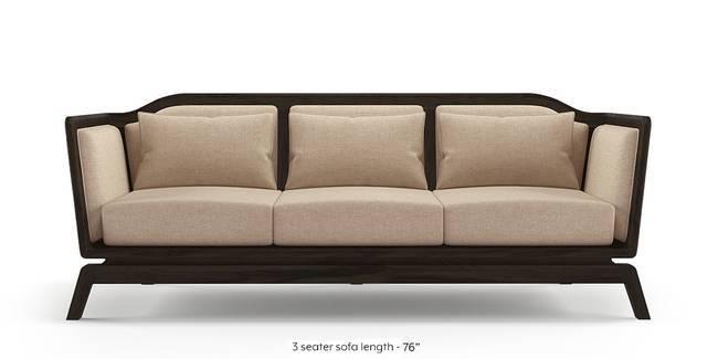 Satori Wooden Sofa (Macadamia Brown) (1-seater Custom Set - Sofas,