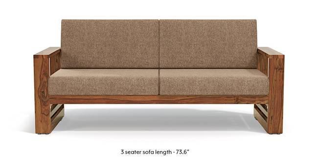 Parsons Wooden Sofa - Teak Finish (Safari Brown) (Teak Finish, 1-