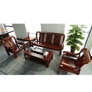 China Furniture China living room sofa with cheap price wooden sofa set