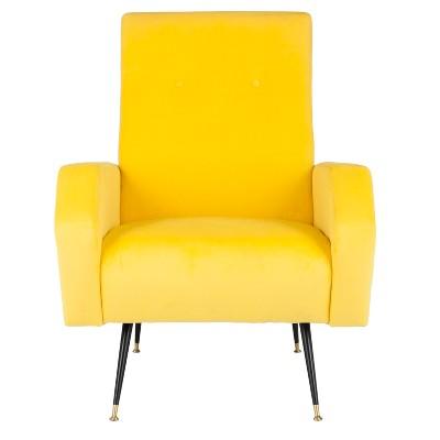 Aida Mid-Century Arm Chair - Velvet - Safavieh®