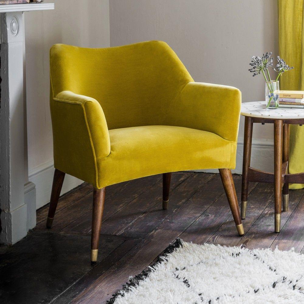 Astoria Chair In Mustard Yellow Velvet With Brass Caps green velvet dining  chairs