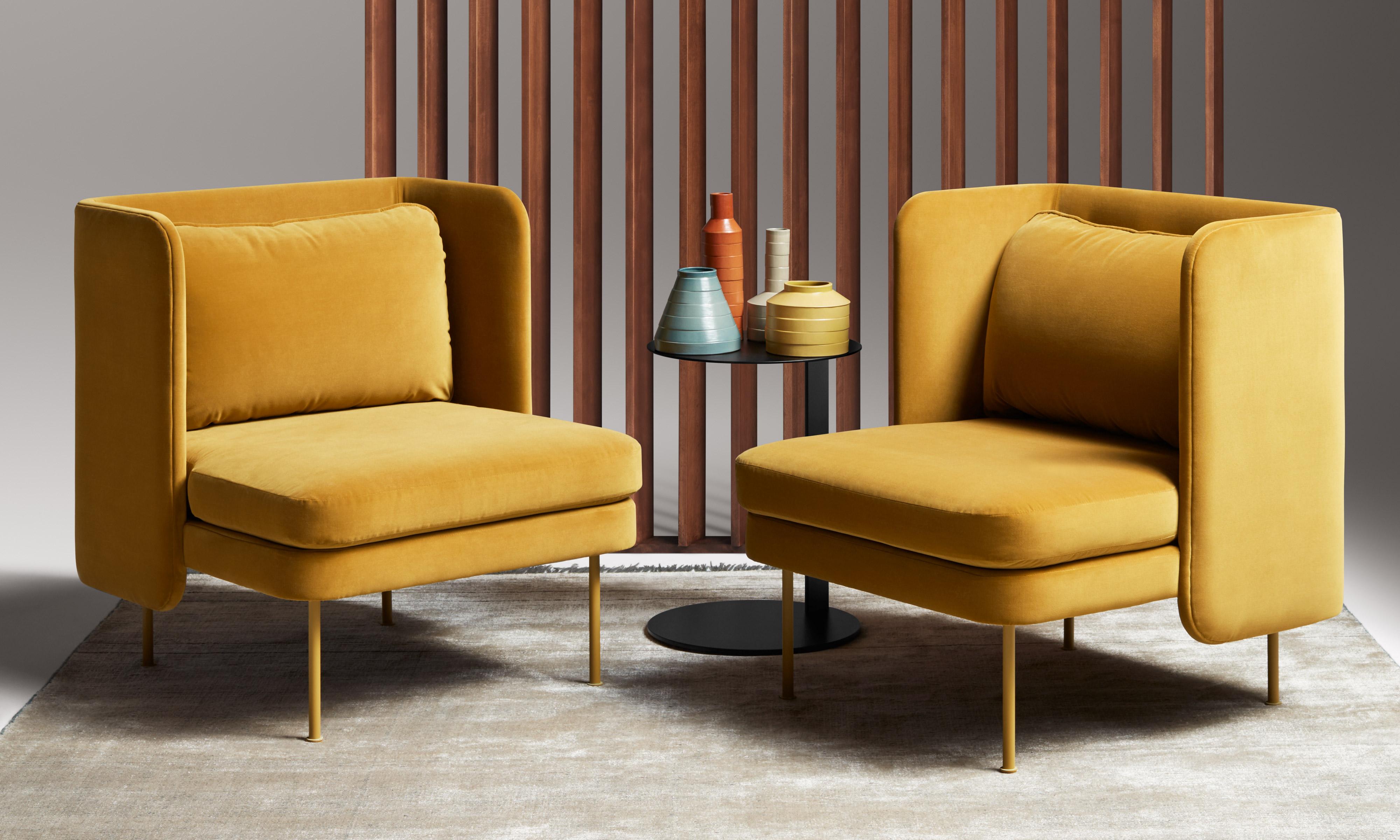 Bloke Velvet Lounge Chair by Blu Dot