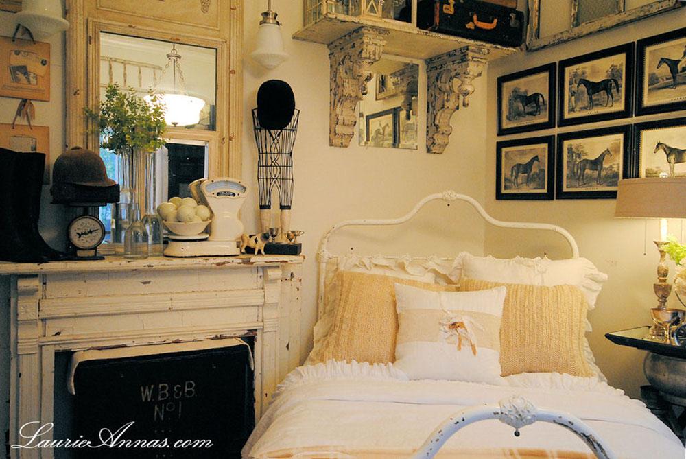 Farmhouse-Bedroom-by-LaurieAnnas-Vintage-Home Vintage bedroom ideas that you shouldn't overlook