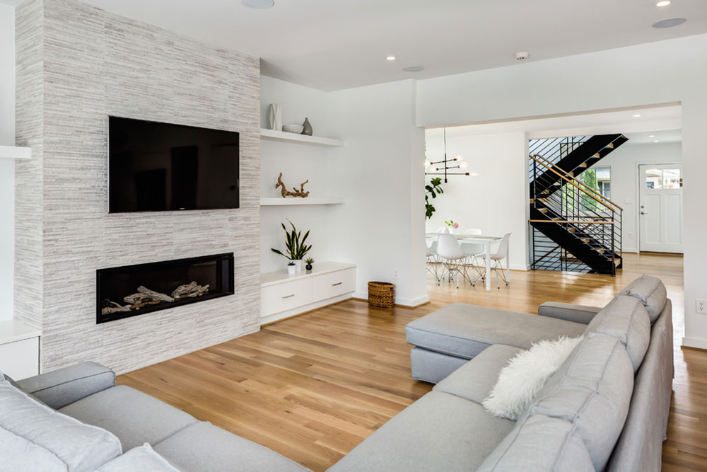 Lyon-Village-Addition-by-Moser-Architects-PLLC Minimalist living room ideas that you should apply in your home