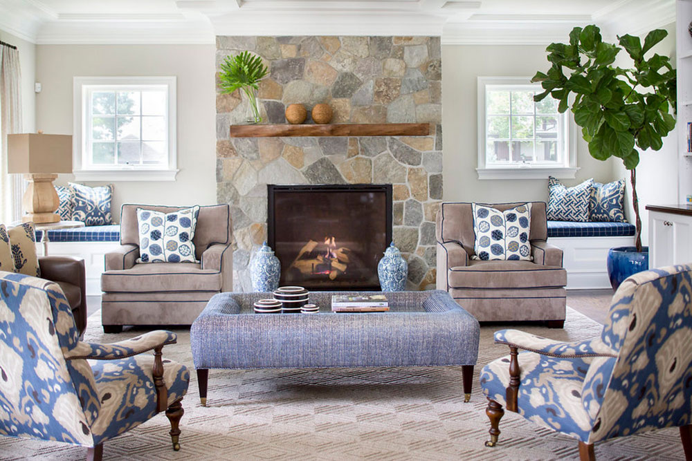 Rye-Transitional-Home-by-Lorraine-Levinson-Interior-Design A living room with a fireplace and instructions for decorating