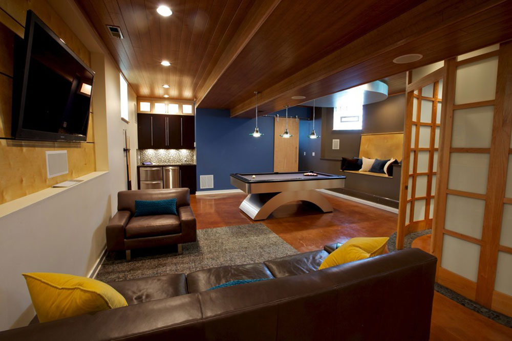 Basement-by-Gina-Bon-Airoom-Architects-Builders-LLC Colors That Go With Yellow: Instructions How To Combine Them
