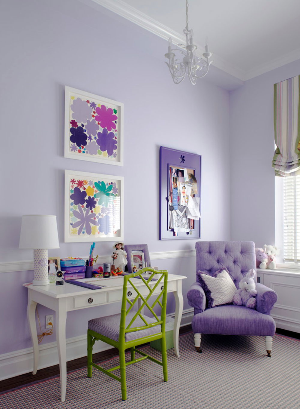 Downtown-traditional-Loft-by-Rusk-Renovations The hue of lavender and the colors that go with lavender
