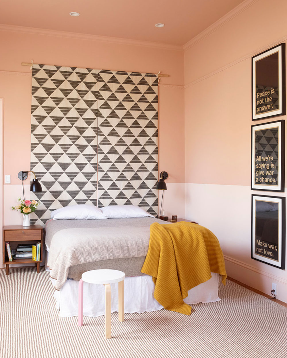 Castro-residence-by-the-office-of-Charles-de-Lisle Use the peach color to decorate amazing interiors