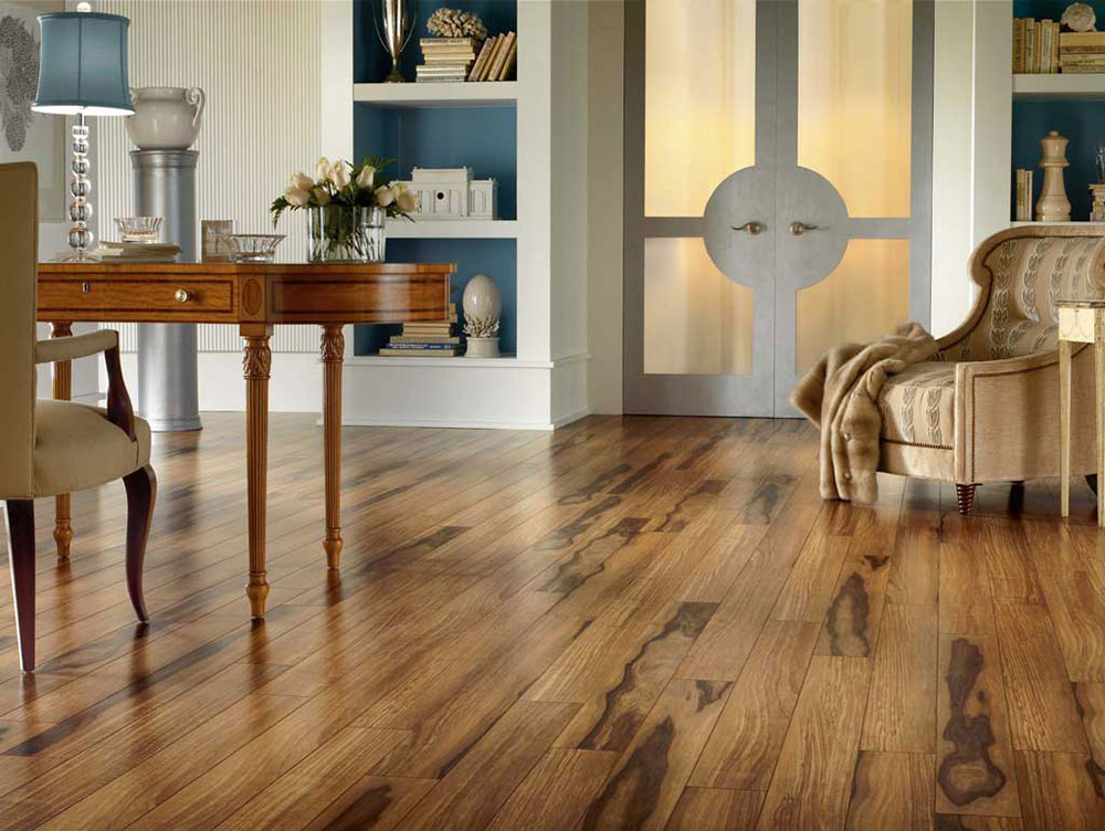 Rustic home office floor Weighing up the different floor coverings and deciding which one is best for you