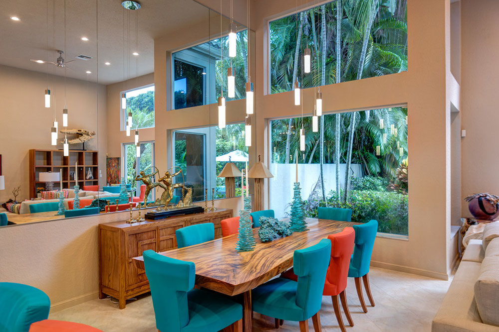 Eclectic-Home-Decor-by-KDB-Custom-Homes The coral color: How to use it to decorate beautiful interiors